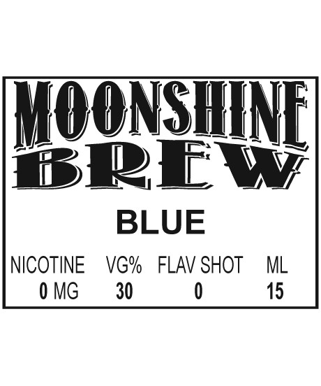 MOONSHINE BREW BLUE - E-Juice - E-Liquid - Electronic Cigarettes - ECig - Ejuice - Eliquid - Vape - Vapor - Vaping - Pickering - Ajax - Whitby - Oshawa - Toronto - Ontario – Canada