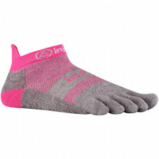 Injinji Performance Run No- Show Socks Pink/Grey