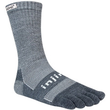 Injinji Outdoor 2.0 Original Weight Crew Socks- Charcoal
