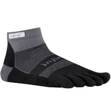 Injinji Run Mini Crew Performance Socks Midweight Black/Grey