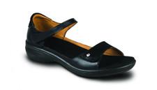 Revere Women's Bali Black Lizard Sandal