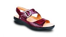 Revere Women's Barcelona Red Croc Sandal