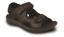 Revere Men's Montana Black Sandal