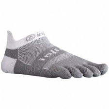 Injinji Run 2.0 Midweight No Show Socks Grey/White