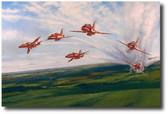 Red Arrows  Aviation Art