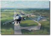 """Volk Field Falcons""  by Jim Laurier Aviation Art"