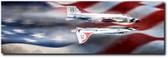 Red White And Blue Aviation Art