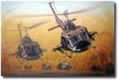 Guns Up by Joe Kline - UH-1C Huey Gunship Aviation Art