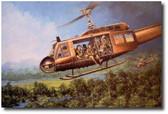 Magic Carpet Ride by Joe Kline - UH-1C Huey Aviation Art