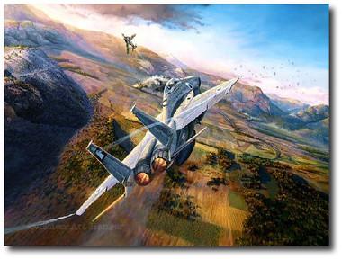 Showdown Over the Bekaa by Rick Herter Aviation Art