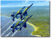 Blue Skies by Bryan David Snuffer - F/A-18 Hornet - Blue Angels