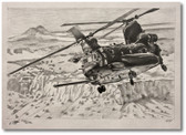 Evil Empire Chinook by Bryan David Snuffer - MH-47G Aviation Art