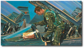 Learning to Fly by Bryan David Snuffer - T-38 Talon  Aviation Art