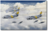 Firewalled for Intercept by Darrell White Aviation Art