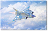 Guardian Dragon by Mark Karvon - Saab 35 Draken Aviation Art