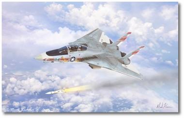 Prowling Wolf by Mark Karvon - Grumman F-14 Tomcat Aviation Art