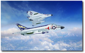 Skyrays Flight by Mark Karvon - Douglas F4D Skyray Aviation Art