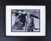 Amelia Earhart in Front of Biplane Aviation Art