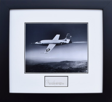 Chuck Yeager and Bell X-1 Breaking the Sound Barrier (Signed)  Aviator  Art