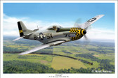 Slybird by Mark Karvon - P-51 Mustang  Aviation Art