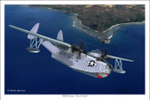 "PBM Mariner ""Shark Patrol"" by Mark Karvon - PBM-3D Mariner  Aviation Art"