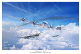 Million Dollar Baby by Mark Karvon - Boeing B-29 Superfortress  Aviation Art