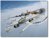 Rocket Attack by Jim Laurier - Boeing B-17 Flying Fortress