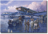 A Promise Kept A/P by Tom Freeman - C-47 Dakota C-54 Skymaster - Berlin Air Lift  Aviation Art