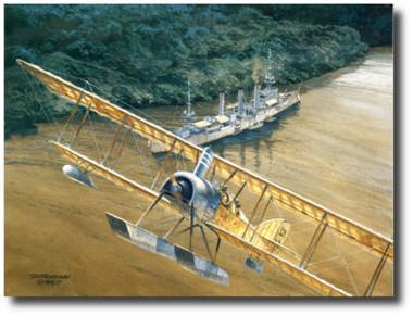 """Konigsberg"" by Tom Freeman- WWI Naval Art- German Light Cruiser SMS Konigsberg  Aviation Art"
