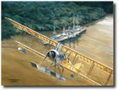 """Konigsberg"" by Tom Freeman- WWI Naval Art- German Light Cruiser SMS Konigsberg  Aviation Art"