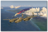 Early Victories by Jim Laurier - P-38 Lightning   Aviation Art