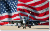 Stars and Stripes Forever by Dru Blair- F-18 Hornet  Aviation Art