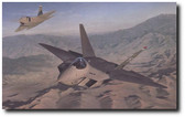 The Dawning by Steven Moore - YF-22 Advanced Tactical Fighter  Aviation Art