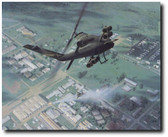 Defense of An Loc by Dru Blair - AH-1 Cobra  Aviation Art