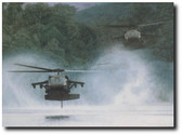 "The RiverHawks by Dru Blair - Sikorsky UH-60 ""Blackhawk"" Aviation Art"