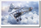 Duel of Canvas Falcons  by Mark Karvon - Sopwith Camel Aviation Art