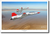 The White Rocket by Mark Karvon – T-38 Talon Glicee Aviation Art
