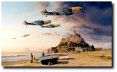 Aces On The Western Front by Robert Taylor - Me109s Aviation Art