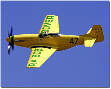 R.A. Bob Hoover - P-51 Old Yeller - Reno Air Races  - Aviation Art