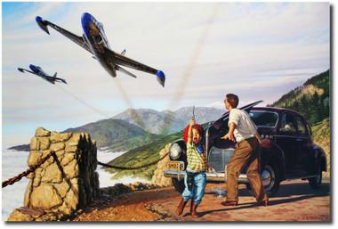 Shootin' Stars of the 94th by Stan Vosburg- P-80 Shooting Star -Aviation Art