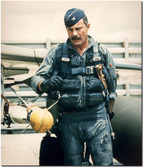 USAF Colonel Robin Olds After a Mission in his Flight Suit