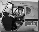 Amelia Earhart in Airplane