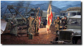 Burning of the Colors (Paper Giclee) by Larry Selman - U.S. Flag Ceremony