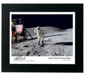 Apollo 16 Charles Duke on the Moon Signed by Astronaut Charlie Duke Aviation Art