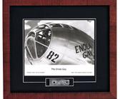Enola Gay Print with B29 skin Signed by Navigator Dutch Van Kirk  Aviation Art