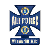 Air Force Iron Cross Metal Sign