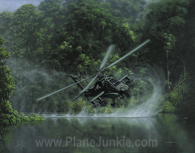 Deliverance by Dru Blair - AH-64 Apache Attack Helicopter