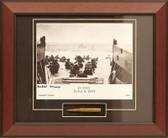D-Day Utah Beach signed by survivor Herbert Moore