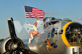 Heather with the B-17