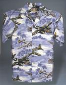 Lagoon Blue -  Hawaiian Aviation Shirt